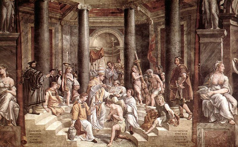 The Baptism of Constantine, as imagined by students of Raphael